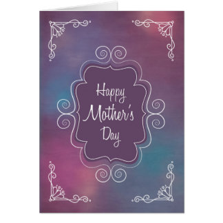 Vintage Frame with Happy Mother's Day Greeting Card