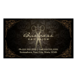 Vintage Framed Damask Hair Salon Appointment Pack Of Standard Business Cards