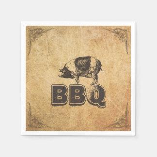 Vintage Framed Pig Roast BBQ Disposable Napkin