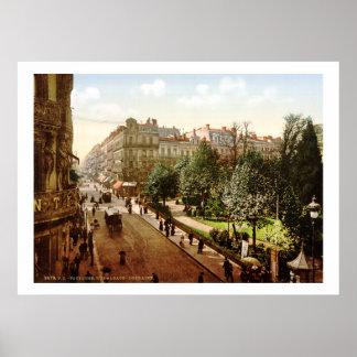 Vintage France, Alsace-Lorraine Street, Toulouse Poster
