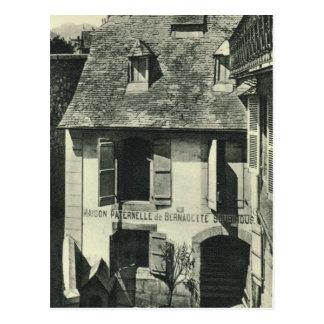 Vintage France, Birthplace of St Bernadette Postcard