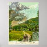 Vintage France, Chamonix 1907 Poster