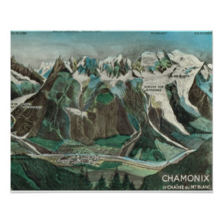 Vintage France, Chamonix Mont Blanc Poster