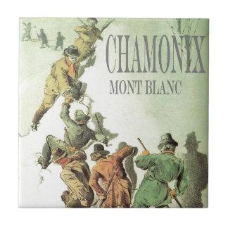 Vintage France, Chamonix, Mt Blanc Tile