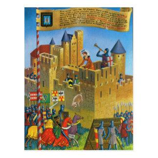 Vintage France Medieval Carcassonne Postcard