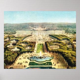 VIntage France, Palais de Versailles Poster