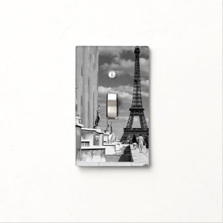 Vintage France Paris Eiffel tower Chaillot palace Light Switch Cover
