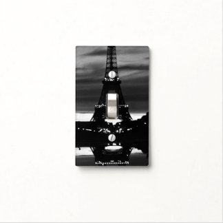 Vintage France Paris Eiffel tower reflection Light Switch Cover