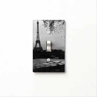 Vintage France Paris Eiffel tower sunset Light Switch Cover