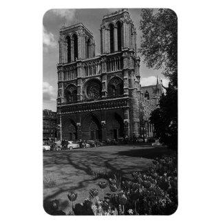 Vintage France Paris Notre Dame Cathedral 1970 Magnet