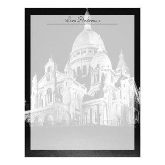 Vintage France Paris Sacre Coeur Basilica Letterhead