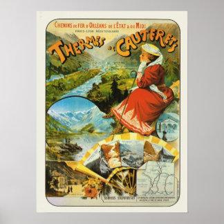 Vintage France, Railway, Themes de Cauterets Poster