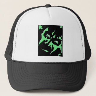 Vintage Frankenstein Monster Green Black Retro Trucker Hat