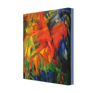 Vintage Franz Marc Animals in a Landscape Canvas Print