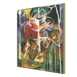 Vintage Franz Marc Deer in the Forest Canvas Print