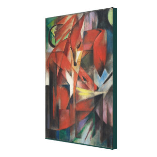 Vintage Franz Marc Foxes Canvas Print