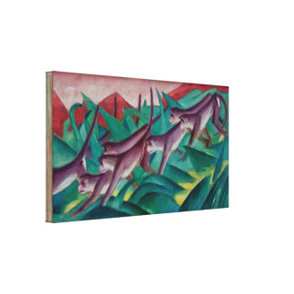 Vintage Franz Marc Monkey Frieze Canvas Print