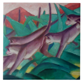 Vintage Franz Marc Monkey Frieze Tile