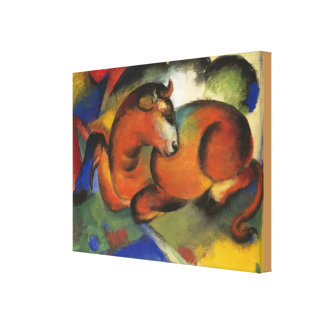 Vintage Franz Marc Red Bull Canvas Print