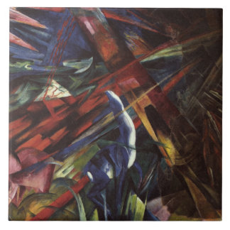 Vintage Franz Marc The Fate of the Animals Tile