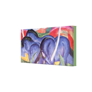 Vintage Franz Marc The Large Blue Horses Canvas Print