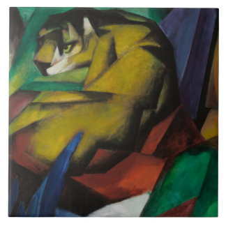 Vintage Franz Marc The Tiger Tile