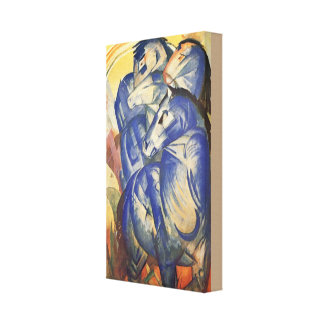 Vintage Franz Marc The Tower of Blue Horses Canvas Print