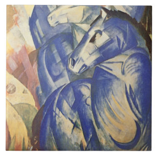 Vintage Franz Marc The Tower of Blue Horses Tile