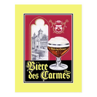 Vintage French Abbay beer advertising Postcard