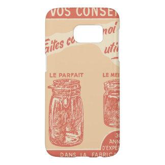 Vintage French Ad for Mason Jars Samsung Galaxy S7 Case