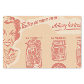Vintage French Ad for Mason Jars Tissue Paper