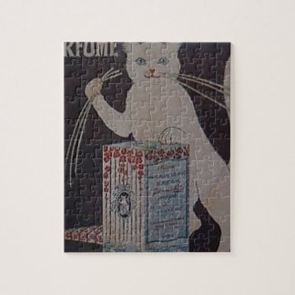 Vintage French Advertisement - cats Jigsaw Puzzle