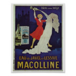 Vintage French advertisement laundry retro image Poster