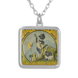 Vintage French Advertisement Silver Plated Necklace
