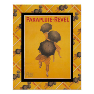 Vintage French advertising, Parapluie Revel Poster