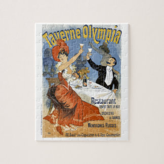 Vintage French Advertising Taverne Olympia Puzzles