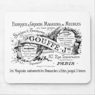 vintage french advertising typography mouse pad
