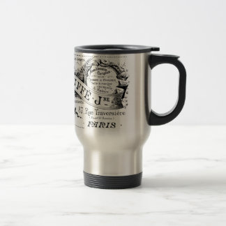vintage french advertising typography travel mug