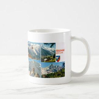 Vintage French Alps, Chamonix Mt Blanc Coffee Mug