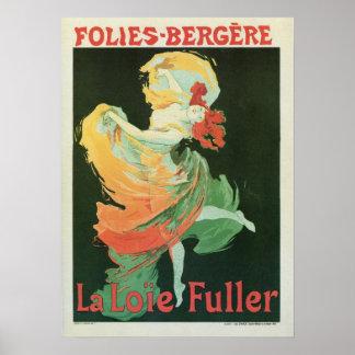 Vintage French art nouveau La Loïe Fuller ad Poster