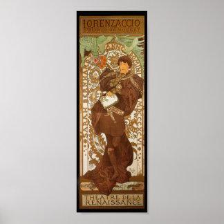 Vintage French Art Nouveau Poster Print