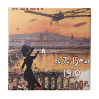 Vintage French Aviation Tiles