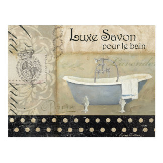 Vintage French Bath Postcard