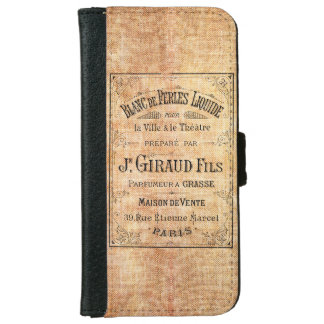 Vintage French beauty label iPhone 6 Wallet Case