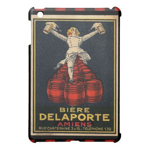 Vintage French Beer Advertising Poster Design Cover For The iPad Mini
