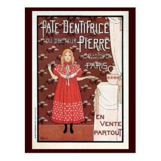 Vintage French Belle epoque toothpaste ad Postcard