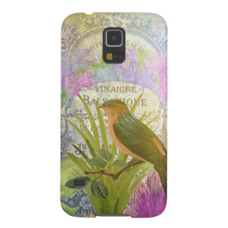 Vintage French Bird Collage Perfume Label Galaxy S5 Cases