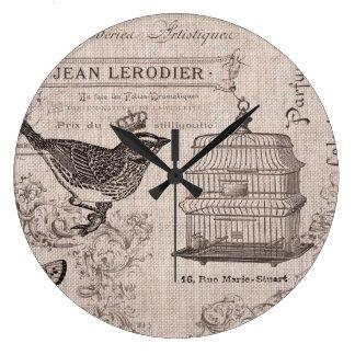 Vintage French Bird wall clock