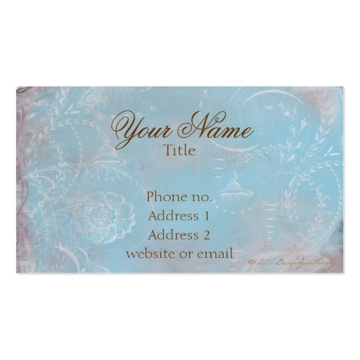 Vintage French Blue Toile Custom Business Cards