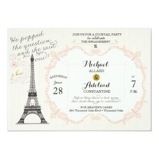 Vintage French Bridal Shower Invitations